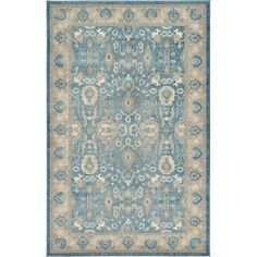 FREE SHIPPING! Shop Wayfair for Unique Loom Salzburg Light Blue Area Rug - Great Deals on all Decor products with the best selection to choose from!