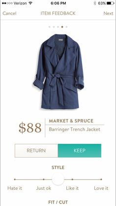 Want - Stitch Fix Market & Spruce Barringer Trench Jacket. https://www.stitchfix.com/referral/11203015