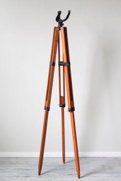 Vintage wooden tripod.: