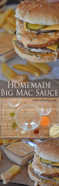 Get your fast food fix at home with this stunning replica of the Big Mac. This got everything you need in a double decker sandwich even the sauce.homemade big mac sauce will give any homemade burger a facelift.