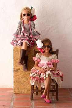 Girls with style. Girly Outfits, Kids Outfits, Flamenco Party, Kool Kids, Daily Dress, Indian Wear, Dance Wear, Bohemian Style, Kids Fashion