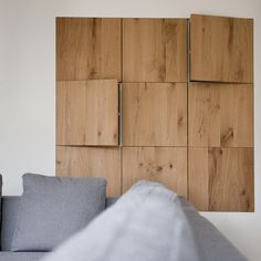Design oak wooden cupboard wall, placed in a beautifully finished wall. - Haven Design Workshop - # Oak Welcome to G.