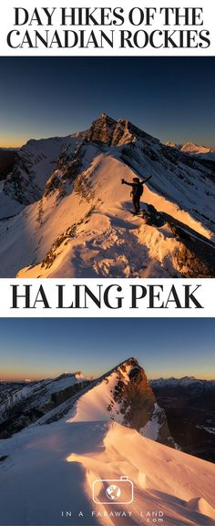 See the views from the top of Ha Ling Peak near Canmore. Ha Ling Peak is one of the best day hikes in the Canadian Rockies. #hiking #Canada #rockymountains