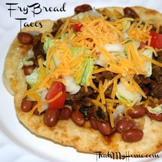 Fry Bread Recipe from that's my home.com Perfect for tacos....