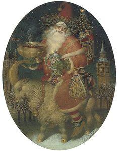 "Gennady Spirin (Russian, 1948), ""Santa Claus in London"" | Flickr - Photo Sharing!"
