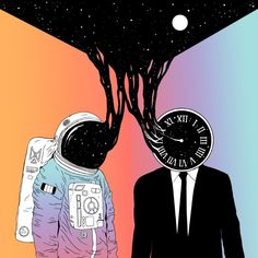 A Portrait of Space and Time ( A Study of Existence) Art Print by Norman Duenas | Society6