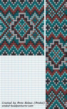 "Схема гердана ""Бирюзово-коричневого"" - станочное ткачество / гобеленовое плетение"