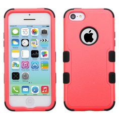 Insten Tuff Hard PC/ Silicone Dual Layer Hybrid Rubberized Matte Case Cover for Apple iPhone 5C