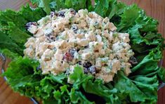 Chicken Salad  Printable Recipe  8-10 Servings  4 cups cooked chicken, diced and chilled  2 cups chopped celery  2 cups sliced, seedless grapes  4 tbsp. chopped fresh parsley  2/3 cup chopped green onions  1 cup light mayonnaise (more/less based on your tastes)  1/2 teaspoon salt  1/4 teaspoon black pepper  Combine first 5 ingredients in a large bowl.  Mix mayo, salt and pepper in a small bowl. Combine mayo with chicken mixture. Chill.  Serve in pocket pitas with a leaf of lettuce (if…