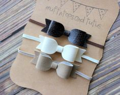 Etsy の Felt and glitter headband set by muffintopsandtutus