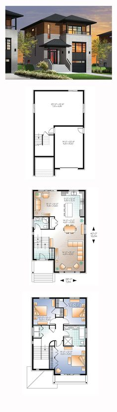 Modern House Plan 76362 | Total Living Area: 1883 sq. ft., 3 bedrooms and 2…