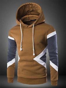 Multicolor con capucha de algodón que forma para los hombres