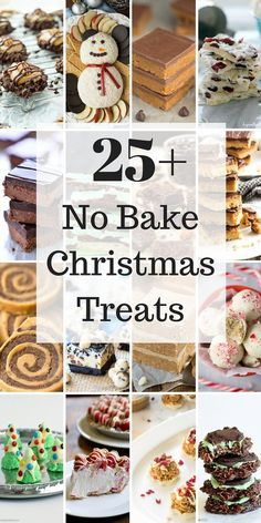 Easy Christmas Treats no bake Christmas cookies, bars & candies! is part of Christmas candy recipes - Easy Christmas Treats all no bake! Including cookies, bars, candies and desserts because sometimes you just don't have time to bake! Easy Christmas Treats, Christmas Food Gifts, Xmas Food, Christmas Cooking, Christmas Desserts, Holiday Treats, Holiday Recipes, Christmas Cupcakes, Christmas Recipes