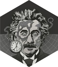 "https://flic.kr/p/hsPQmr | EINSTEIN | Scientist Portraits | The genius of physics. Changed how we see matter and energy, motion, space and time.  <a href=""http://www.redbubble.com/people/dv8sheepn/works/14528262-einstein"" rel=""nofollow"">Tshirt available</a>"