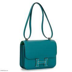 Hermès Constance Verso 24 Bleu Paon Epsom Palladium Hardware