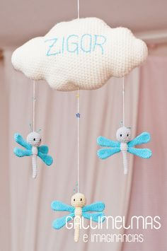 Modern Crochet, Cute Crochet, Crochet For Kids, Crochet Dolls, Crochet Baby, Mobiles, Crochet Designs, Crochet Patterns, Balloon Crafts