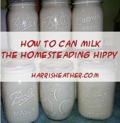 Canning Milk -
