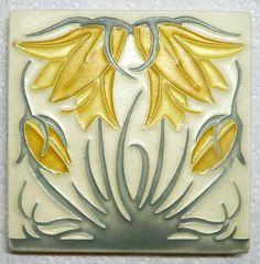 Ladybell Motawi Art Tile 6 x 6 Arts and Crafts Tile | eBay