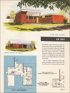 mid century modern floor plan. Repinned by Secret Design Studio, Melbourne, www.secretdesignstudio.com