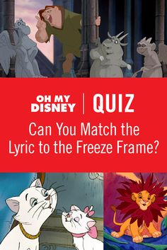 Calling all Disney trivia experts! It's time to put your Disney lyrics knowledge to the test and see if you can match the lyric to the freeze frame from some of your favorite Disney movies.