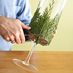 Evergreen Candle: An Easy Christmas Decorating Project could possibly use artificial greenery?