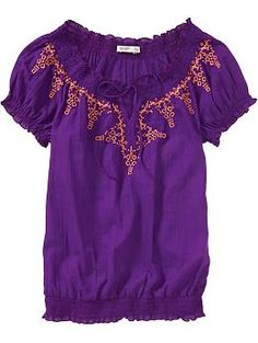 Women's Smocked Mexicali Tops  $15.00