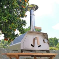 The portable pizza oven Fiesta stainless steel weighs only 22 Kgs fully equipped and ready to make delicious pizzas or roast a chicken, beef or veggies. It's the most portable pizza oven and versatile we've ever made. Portable Pizza Oven, Pizza Oven Kits, Pizza Oven Outdoor, Outdoor Cooking, Pizza Ovens, Wood Fired Oven, Wood Fired Pizza, Small Pizza, Stainless Steel Oven