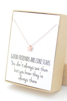 Wear it on its own or as one of many layering necklaces for an adorable look! Made from a rose gold-plated brass star pendant on a 14K rose gold-filled chain and findings. The pendant is approximately