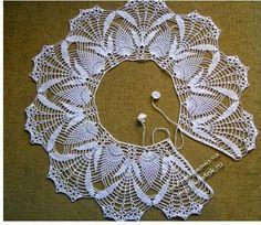 Hobby lavori femminili - ricamo - uncinetto - maglia: colletto uncinetto