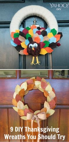 9 #DIY Thanksgiving wreaths you can make at home!