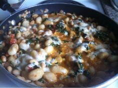Skillet Gnocchi with Chard & White Beans Rainbow Chard, Gnocchi Recipes, Spinach Recipes, White Beans, Eating Well, Farmers Market, Skillet, Cheeseburger Chowder