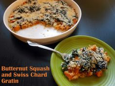 Flavors by Four: Butternut Squash and Swiss Chard Gratin