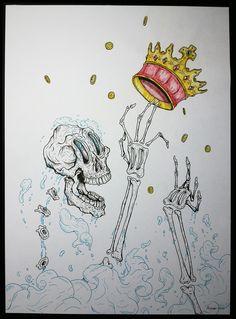 Avareza #illustration #draw #painting #skull #poster #urbanart