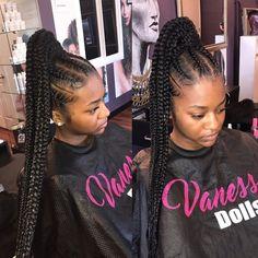 Lemonade feed in braid ponytail hairstyles 2018 Should Try - Hair For Women Feed In Braids Ponytail, Feed In Braids Hairstyles, Braided Ponytail Hairstyles, Side Hairstyles, Weave Hairstyles, Hairstyles 2018, Fashion Hairstyles, Black Hairstyles, Box Braids