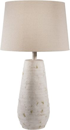 The base of this table lamp just reminds of the beach <3 it'd look so good in a beach home!