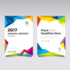 2017 Brochure With Full Color Polygonal Shapes - FREE