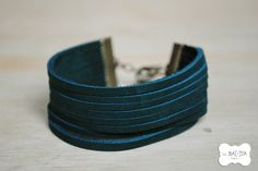 Leather wristlet #DaWanda