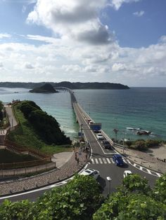 Tsunoshima bridge . Yamaguchi prefecture in Japan. It's the most beautiful bridge in Japan. https://ja.m.wikipedia.org/wiki/%E8%A7%92%E5%B3%B6%E5%A4%A7%E6%A9%8B