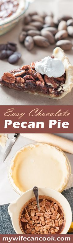 This Easy Chocolate Pecan Pie is a chocolate lovers dream! And no homemade pie is complete without a homemade pie crust and homemade whipped cream. We love making this in the fall after gathering pecans from the pecan trees at Grandma's house, but it's so good that we end up making it year round. I guess, any time of year is good for pie! Or chocolate. Click the image above and we'll show you how to make Easy Chocolate Pecan Pie along with your own homemade pie crust and whipped cream.