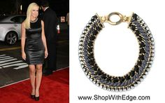 Jennie Garth is wearing the Tempest Necklace, Great Statement Necklace, REPIN to share, $198: www.ShopWithEdge.com