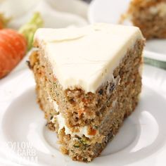 A keto cake so unbelievable good, they'll be coming back for seconds even if NOT on low carb! #ketodesserts #lowcarbdesserts #ketocake #lowcarbcake #glutenfreecake #carrotcake #lowcarbcarrotcake | LowCarbYum.com