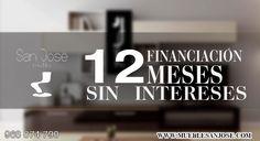 ¿sabías qué en Muebles San José en San José de la Vega financia tus compra a 12 meses sin intereses? ven a visitarnos, ¡ te esperamos ! www.mueblesanjose.com