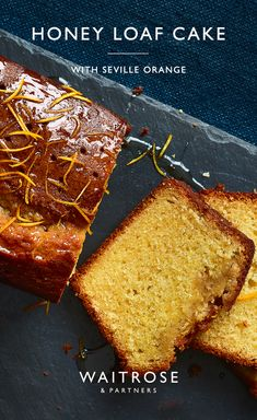 Catch Seville oranges in season to utilise their strong and sweet flavour. This zesty loaf cake is drizzled with a citrus and honey syrup flavoured with star anise. Ideal for weekend baking. Tap for the full Waitrose & Partners recipe. Baking Recipes, Cake Recipes, Dessert Recipes, Russian Honey Cake, Waitrose Food, Delicious Desserts, Yummy Food, Loaf Cake, Home Baking