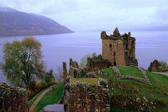 Castle Urquhart overlooking Loch Ness.