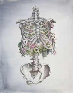 My name is Trisha Thompson Adams and I've been painting since I could pick up a paintbrush. My Floral Anatomy series first bloomed in 2012 when my husband was in school and had stacks of anatomy books with images that captivated me. I wanted to elaborate on that idea and combine earthly elements with the human body.