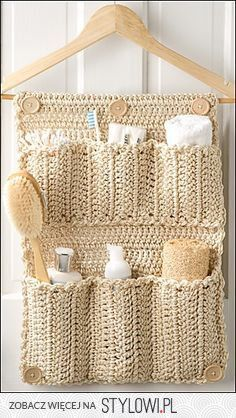 Behind-the-door toiletries organizer.