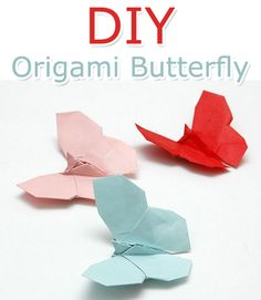 How to Make an Origami Butterfly - Tutorial