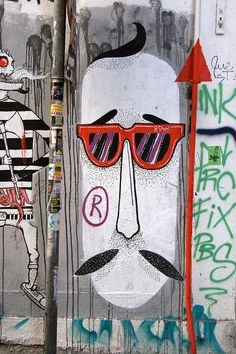 Mr. Moustache #athens #streetart