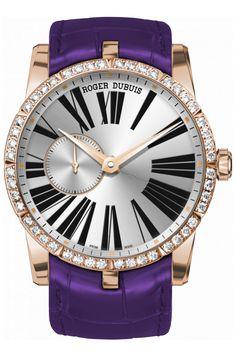 Часы Roger Dubuis RDDBEX0360 Excalibur Automatic Jewellery - золотые - швейцарские женские наручные часы