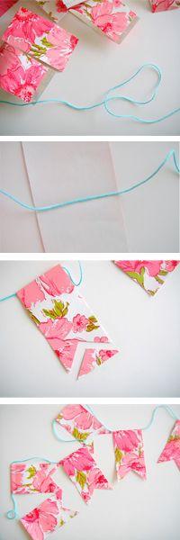 DIY Contact paper garland.